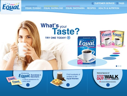 Equal Sweetener Website