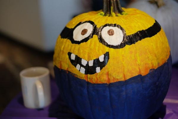 envisionit paints pumpkins for Halloween cheer