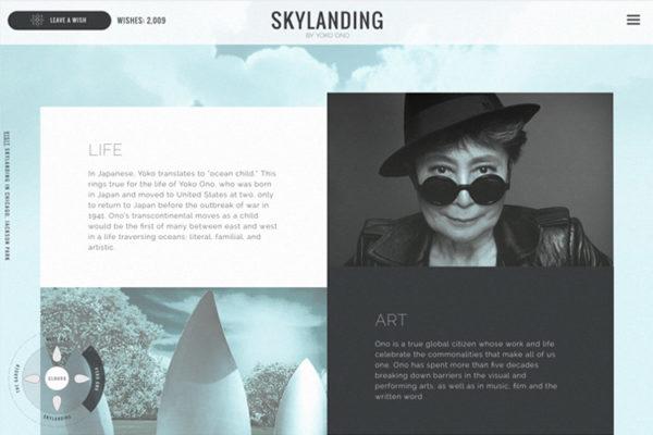SKYLANDING by Yoko Ono