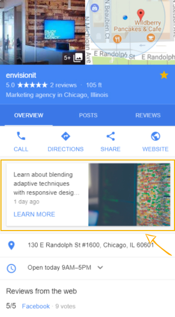 Google Posts - New Google My Business Feature Available