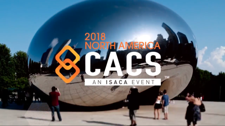 Screenshot of 2018 CACS video title with tourists in front of the Bean in Chicago
