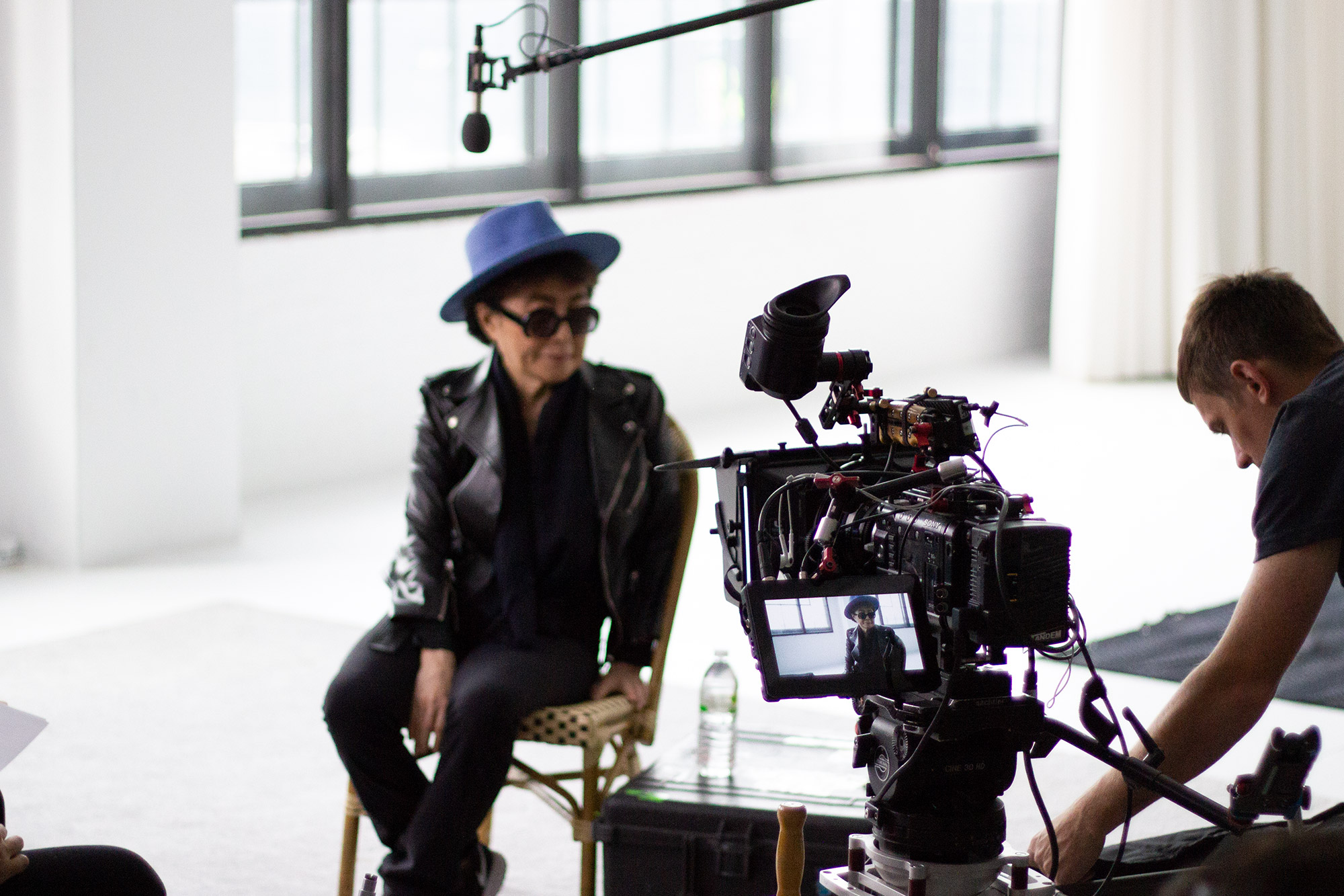 Yoko Ono still from video shoot