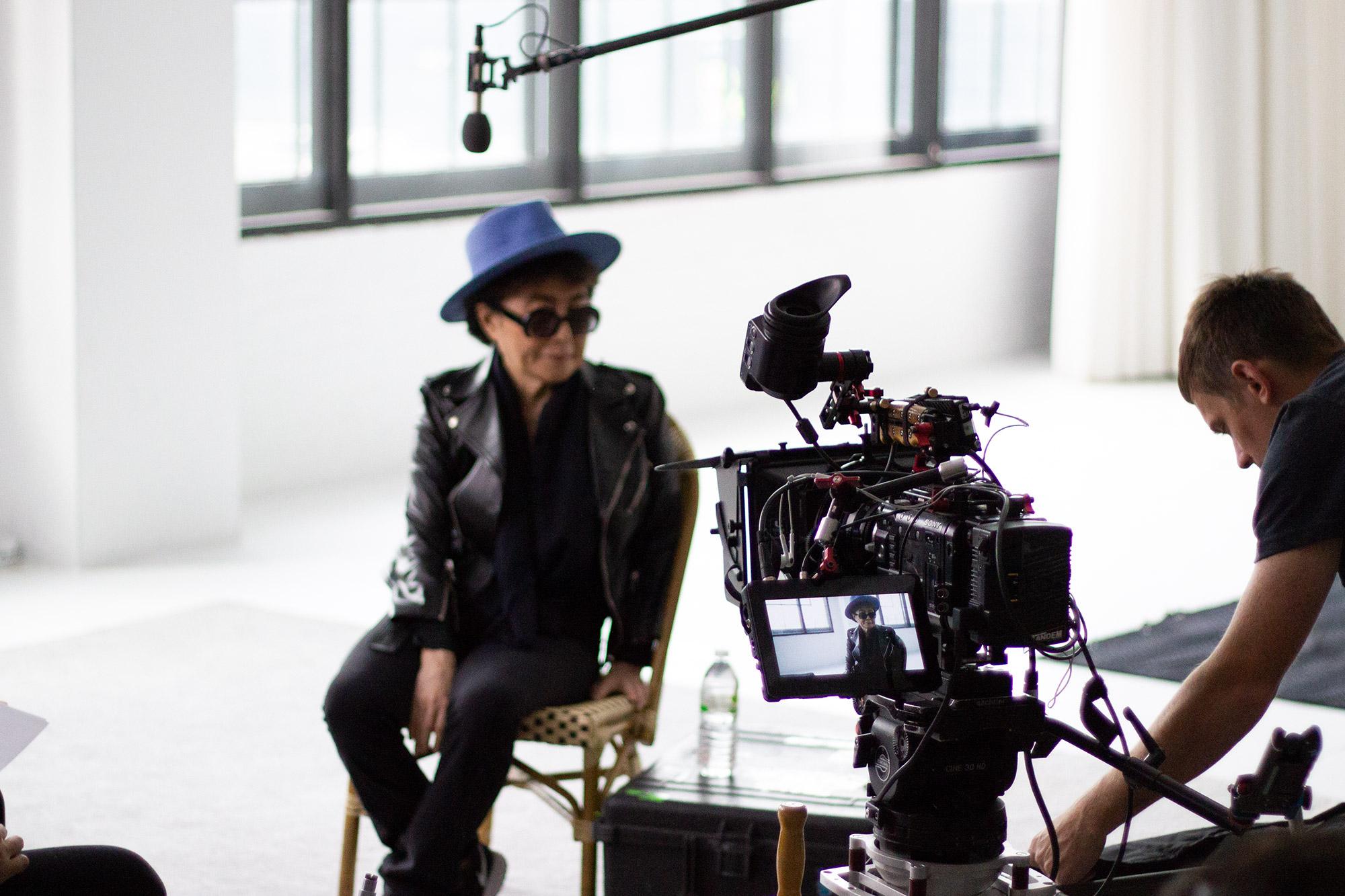 Yoko Ono still from video shoot