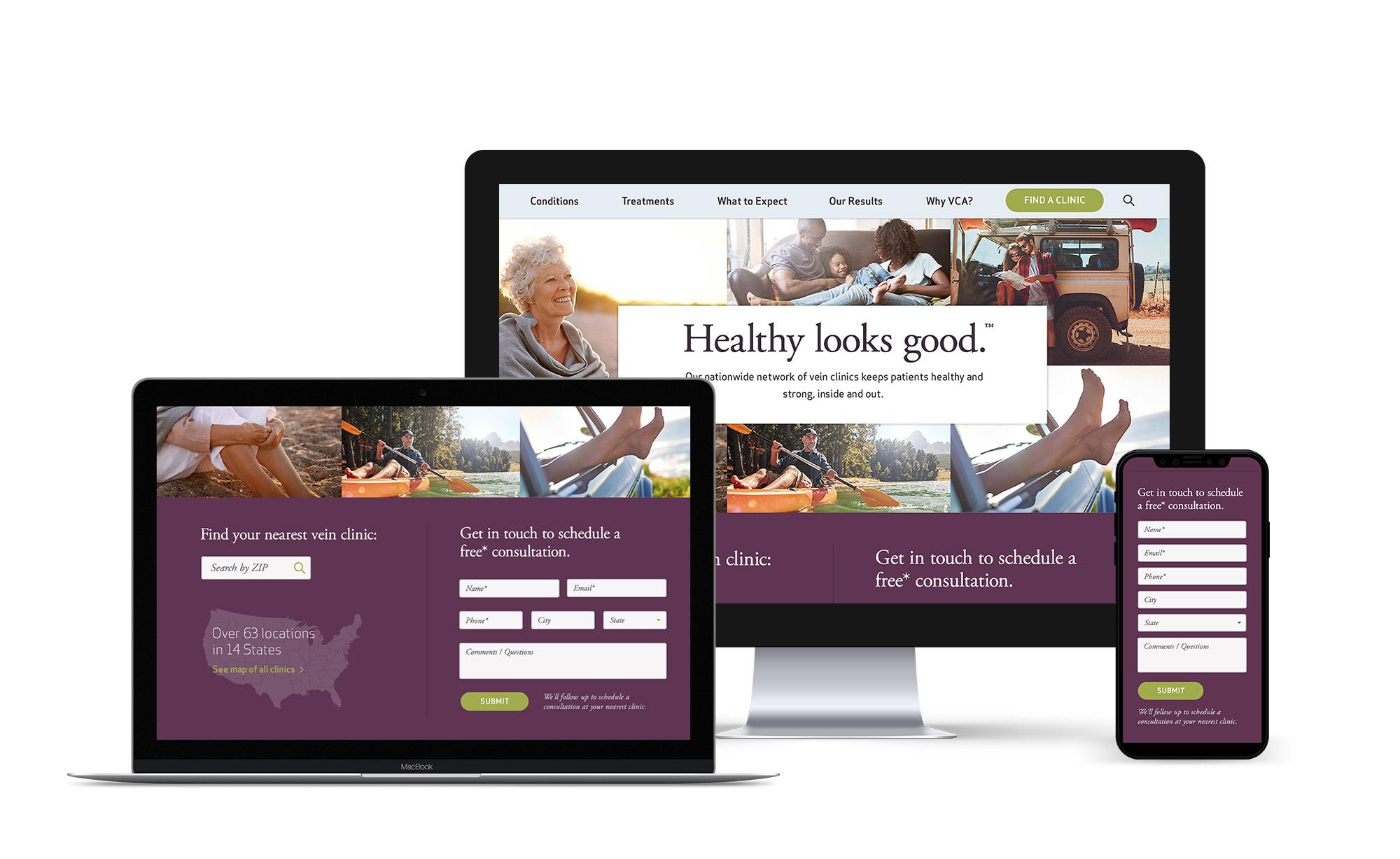 Vein Clinics Website Digital Experience