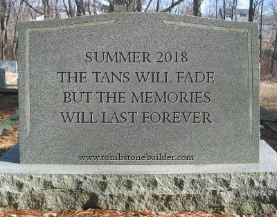 Tombstone for summer 2018