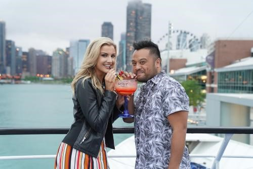 Influencers Kat & Andy during a vacation in Chicago
