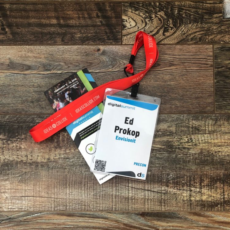 Attendee badges for 2019 Digital Summit in Phoenix