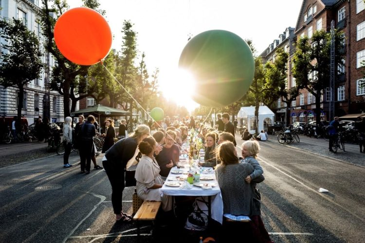 Locals and visitors gather for the new Harvest Feast in Copenhagen