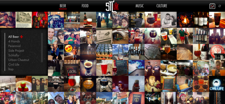 User-generated beer content for STL Live photo collage