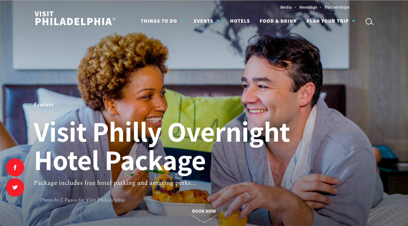 Visit Philadelphia header image and text