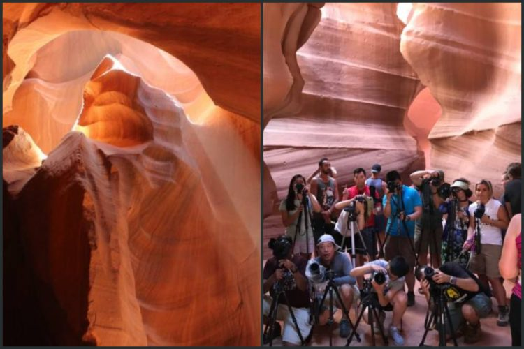 instagram vs reality at antelope canyon