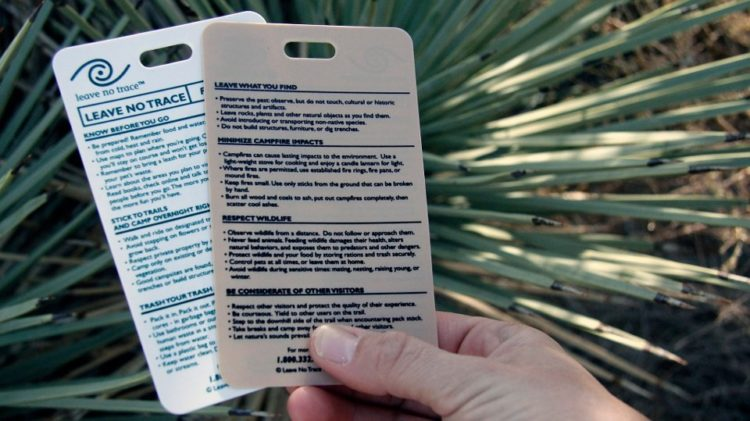 national park system leave no trace reference cards