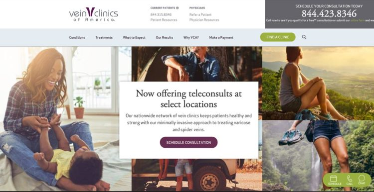 Now Offering Telemedicine at Vein Clinics of America