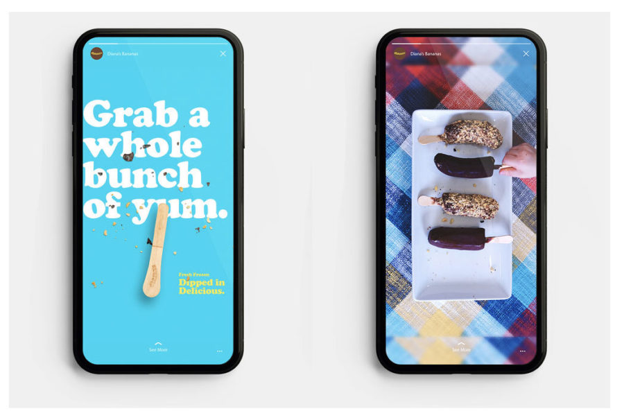 Diana's Bananas Ad on Mobile