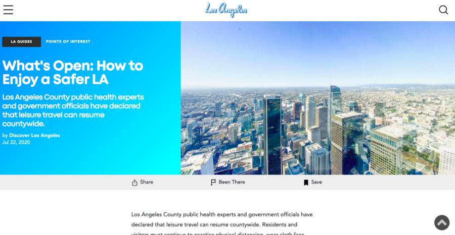 Los Angeles DMO Website