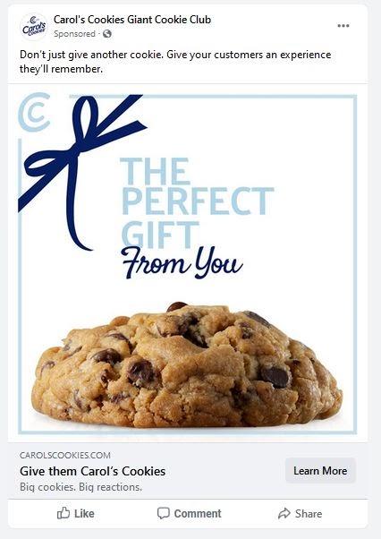 Carols Cookies Ad Facebook Chocolate Chip Cookies